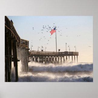 ベントゥーラ桟橋は|エルニーニョ現象を振ります ポスター