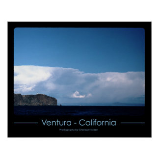 ベントゥーラ、カリフォルニアの灯台 ポスター