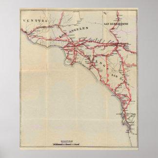 ベントゥーラ、ロサンゼルス、オレンジSan Bernardino ポスター