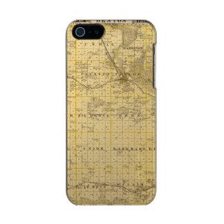 ベントン郡、アイオワ州の地図 メタリックiPhone SE/5/5sケース