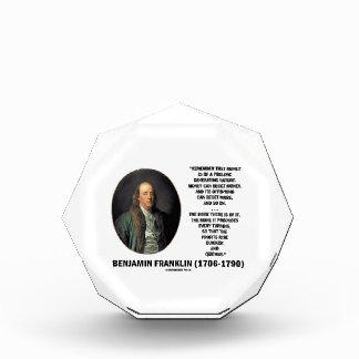 ベンフランクリンのお金の多産の発生の自然 表彰盾