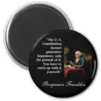 """ベンフランクリンの引用文""""米国憲法… """" マグネット"""