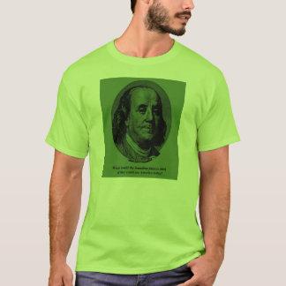 ベンフランクリンの破損 Tシャツ
