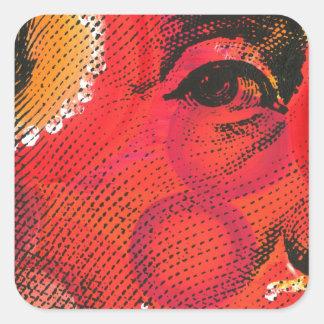 ベンフランクリンの肖像画の絵画及びシルクスクリーン スクエアシール
