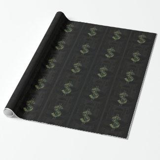 ベンフランクリンの迷彩柄のお金の記号$100 ラッピングペーパー