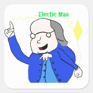 ベンフランクリンは電気のmousepadを発見します スクエアシール