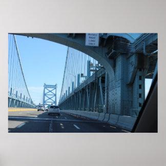 ベンフランクリン橋の乗車 ポスター