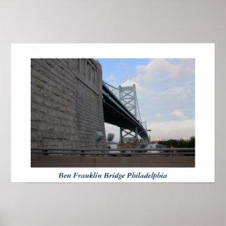 ベンフランクリン橋フィラデルヒィアの写真 ポスター