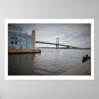 ベンフランクリン橋フィラデルヒィア ポスター