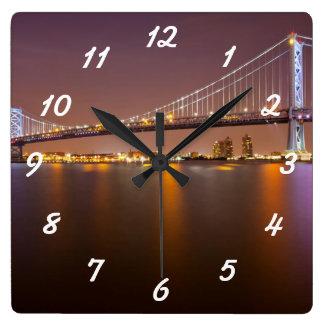 ベンフランクリン橋 スクエア壁時計
