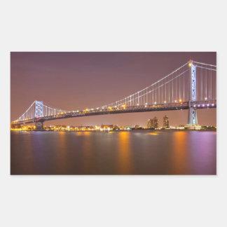 ベンフランクリン橋 長方形シール