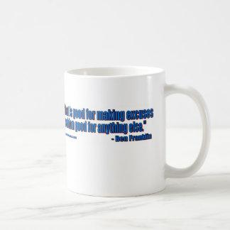 ベンフランクリン-弁解無し! コーヒーマグカップ