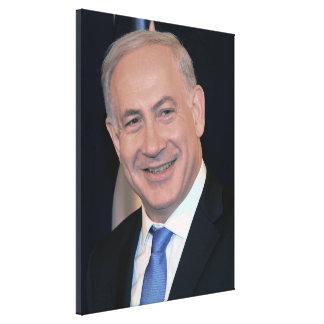 ベンヤミン・ネタニヤフイスラエル共和国の総理大臣 キャンバスプリント