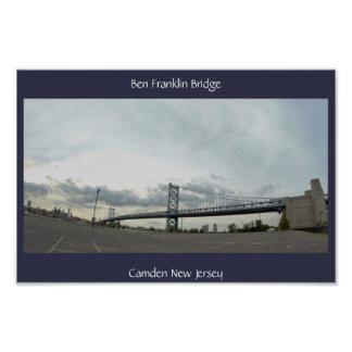 ベンFrankin橋写真 ポスター