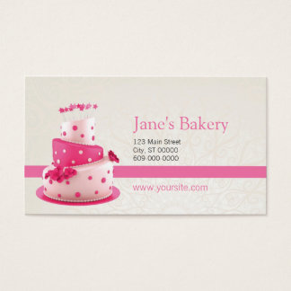 ベーカリーの名刺のピンク 名刺