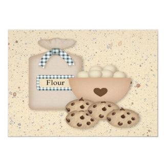 ベーキングのチョコチップクッキーの交換の招待状 カード