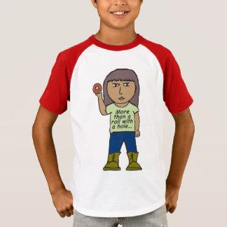 ベーゲルは穴が付いているロールより多くです Tシャツ