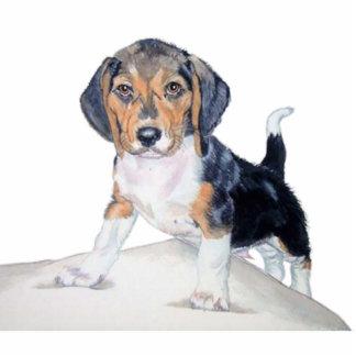 ベーゲルビーグル犬の彫刻 写真彫刻(台付き)