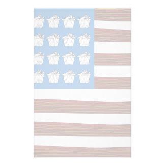 ベーコンおよびカップケーキの米国 便箋
