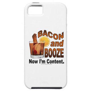 ベーコンおよび酒宴! 今度は私は満足-カクテルのユーモアです iPhone SE/5/5s ケース