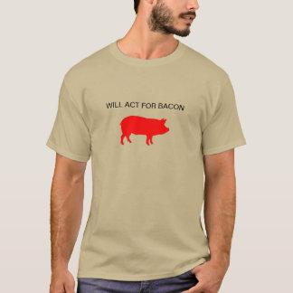 ベーコンのために機能します Tシャツ