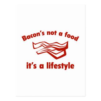ベーコンのない食糧それはライフスタイルです ポストカード