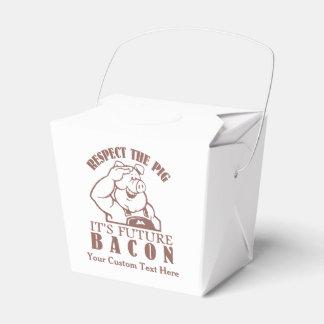ベーコンのカスタムなテイクアウトの箱へのブタ フェイバーボックス