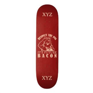 ベーコンのカスタムのスケートボードへのブタ 20CM スケートボードデッキ