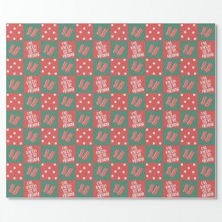 ベーコンのクリスマスのギフト用包装紙 ラッピングペーパー