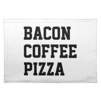 ベーコンのコーヒーピザ ランチョンマット