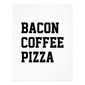 ベーコンのコーヒーピザ レターヘッド
