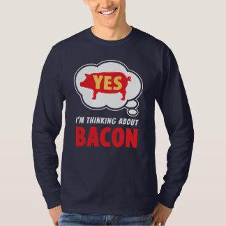 ベーコンのスローガンについて面白い考えること Tシャツ