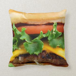 ベーコンのチーズバーガー クッション