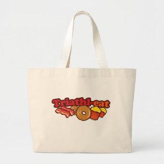 ベーコンのドーナツのカップケーキ ラージトートバッグ
