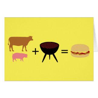 ベーコンのハンバーガーのレシピ カード