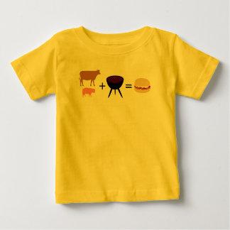 ベーコンのハンバーガーのレシピ ベビーTシャツ