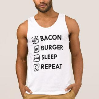 ベーコンのハンバーガーの睡眠の繰り返し