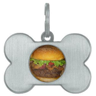 ベーコンのハンバーガー ペットネームタグ