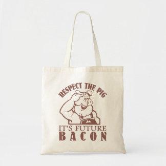 ベーコンのバッグへのブタ-スタイル、色を選んで下さい トートバッグ