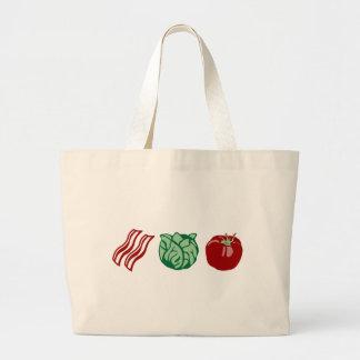 ベーコンのレタス及びトマト- BLT! ラージトートバッグ
