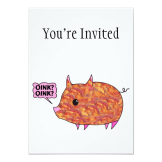 ベーコンの包まれたな豚のよう カード