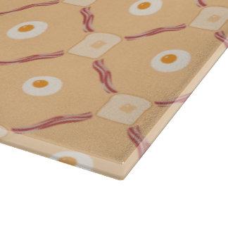 ベーコンの卵およびトーストのまな板 カッティングボード
