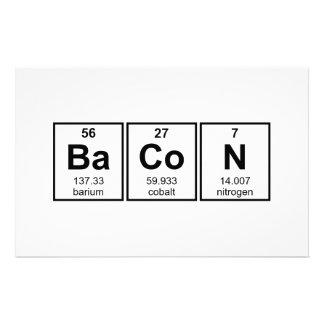 ベーコンの周期表の要素の記号 便箋