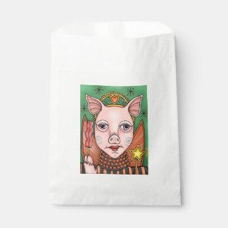 ベーコンの妖精のプリンセスの線画のデザイン フェイバーバッグ
