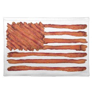 ベーコンの米国は印を付けます ランチョンマット