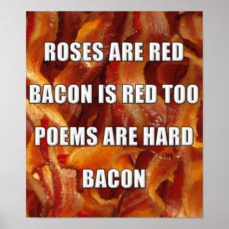 ベーコンの詩おもしろいなポスター印 ポスター