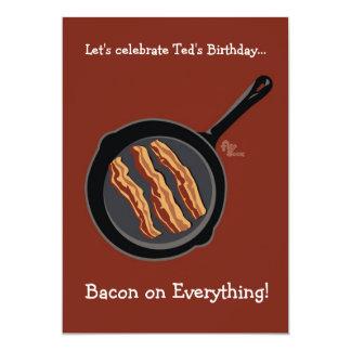 ベーコンの誕生日のパーティの招待状 カード