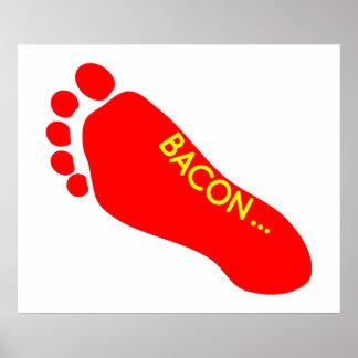 ベーコンの足の入れ墨 ポスター