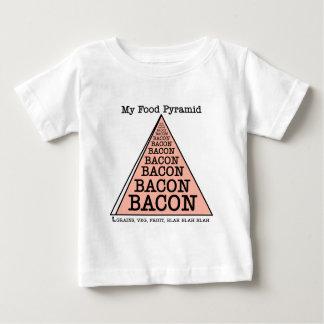 ベーコンの食糧ピラミッド ベビーTシャツ