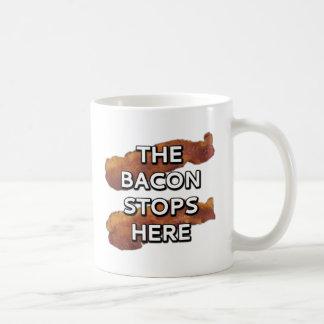 ベーコンはここにストップ コーヒーマグカップ